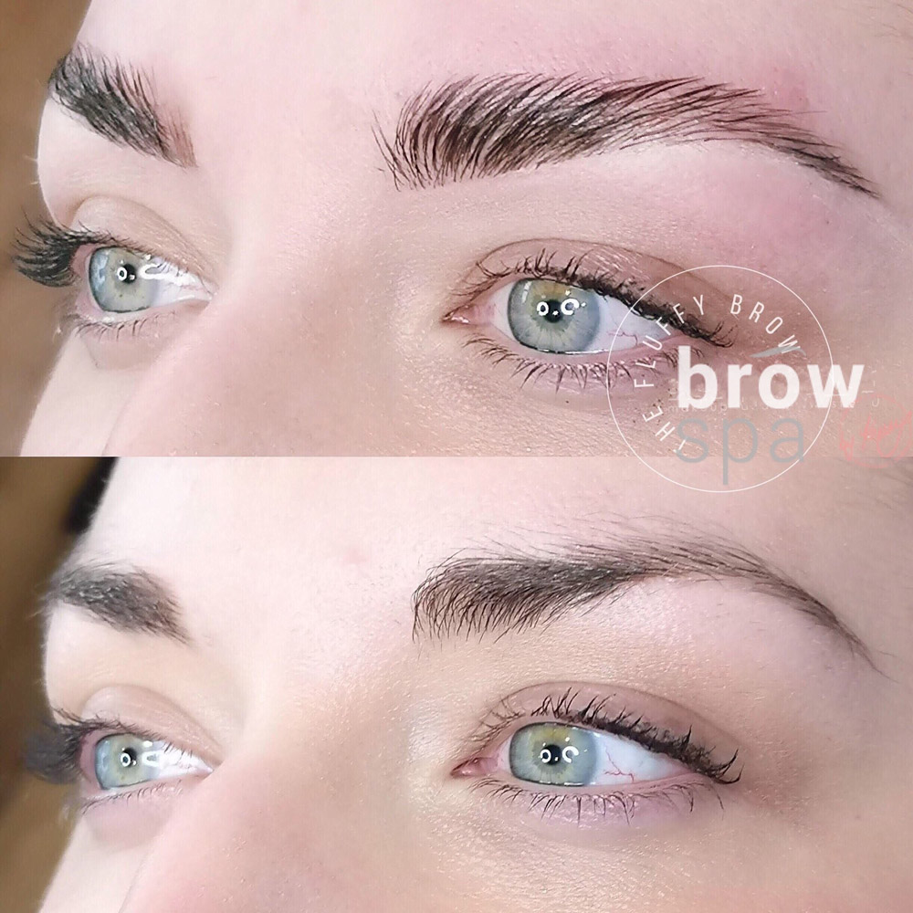 eyebrow lamination before and after